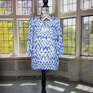 ADIVA SKY BLUE & WHITE BLOUSE (M)